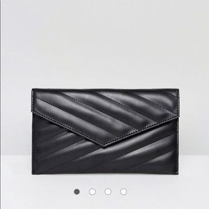 ASOS Quilted Black Clutch